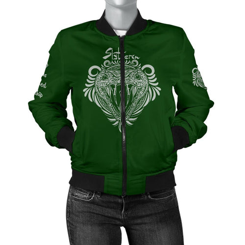 Slytherin Women's Bomber Jacket - - Ineffable Shop