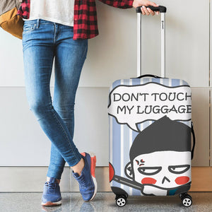 Don't Touch My Luggage Cover Blue - - Ineffable Shop