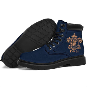 Ravenclaw Women's Flat Ankle Boots - - Ineffable Shop