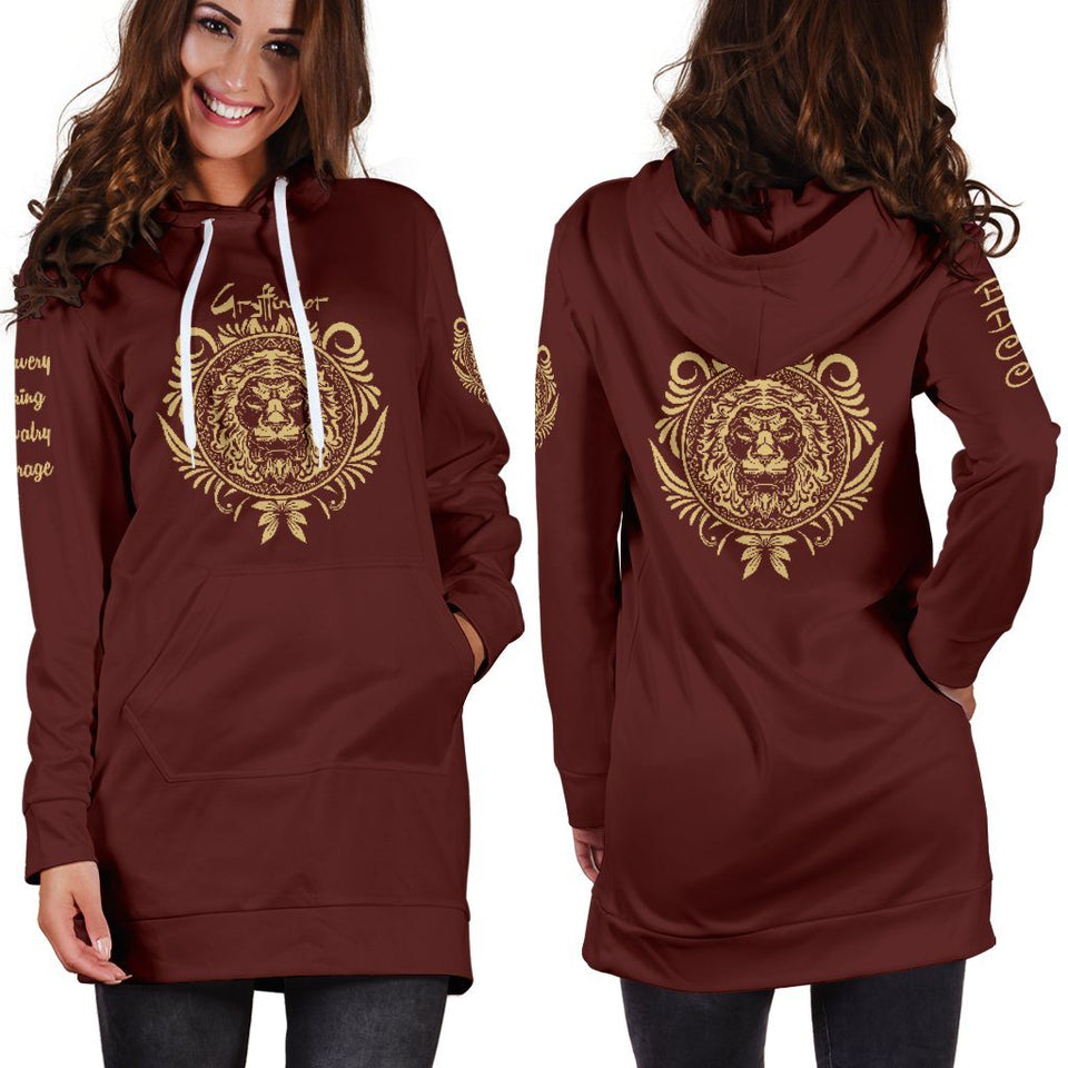 Gryffindor Women's Hoodie Dress - - Ineffable Shop