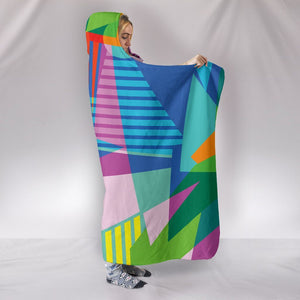 Retro Vintage 80's & 90's Fashion 2 Hooded Blanket - - Ineffable Shop