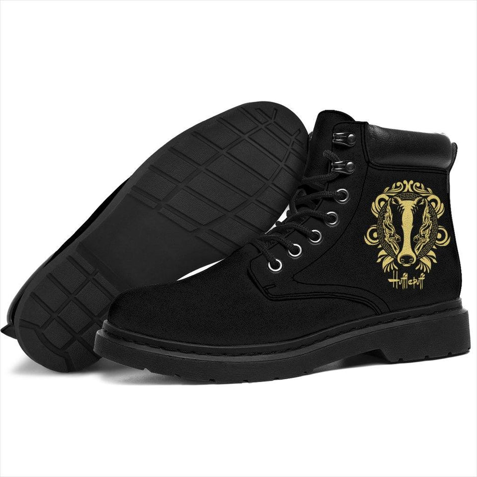 Harry Potter Hufflepuff Men's Flat Ankle Boots - Ineffable Shop