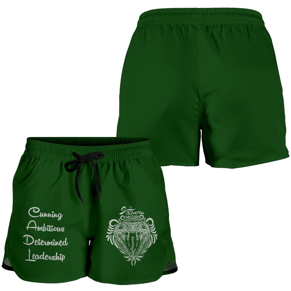 Harry Potter Slytherin Women's Shorts HPWS001 - - Ineffable Shop