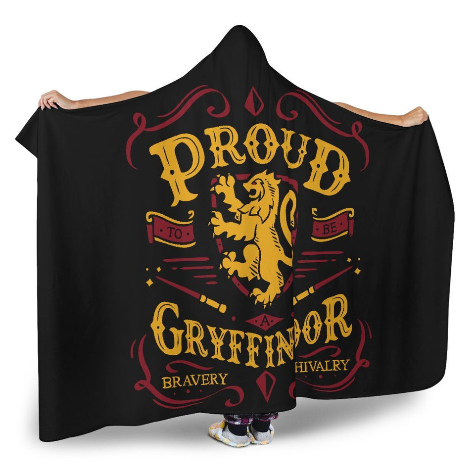 Harry Potter Gryffindor Pride Hooded Blanket - - Ineffable Shop