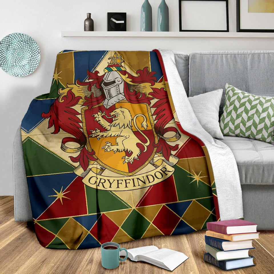 Harry Potter Gryffindor Fleece Blanket Style 2 - Ineffable Shop