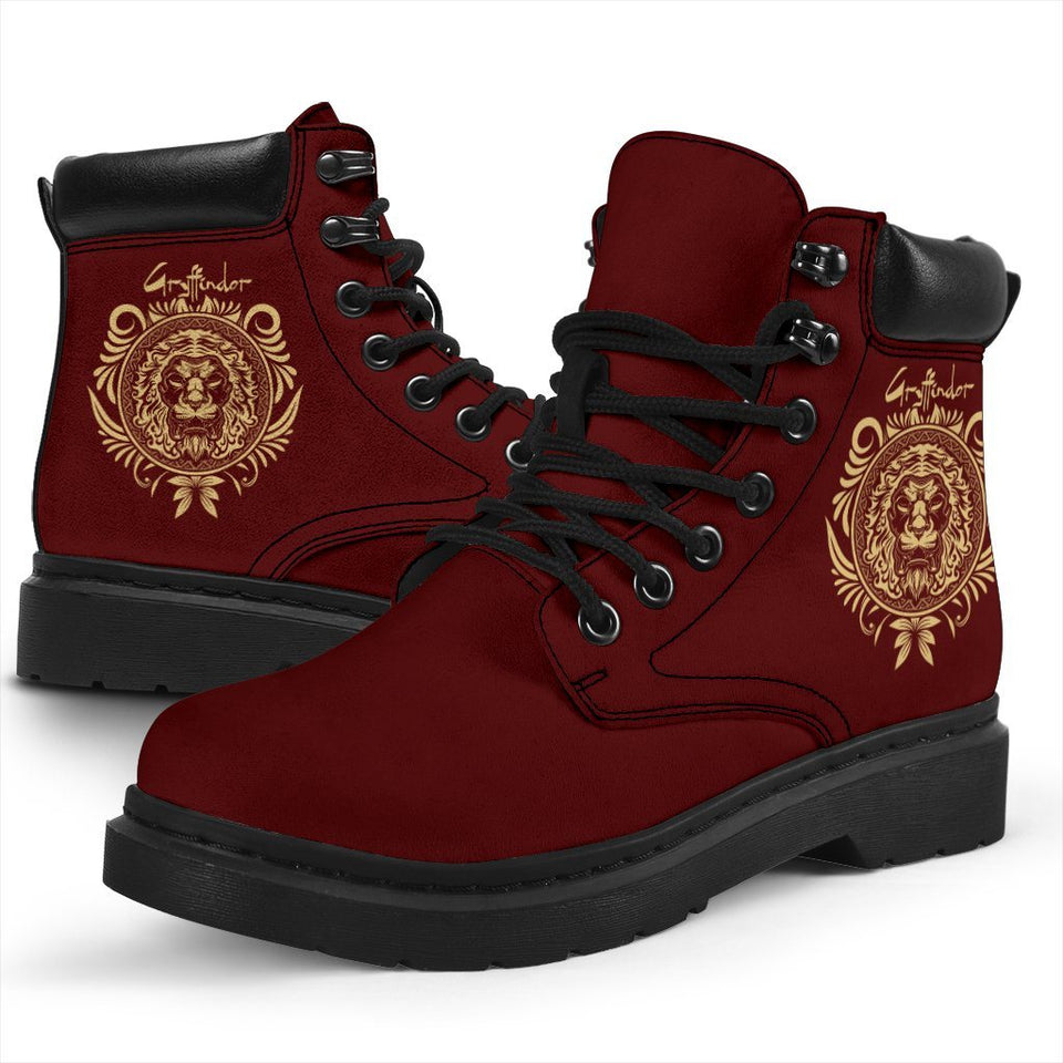Harry Potter Gryffindor Women's Flat Ankle Boots - Ineffable Shop