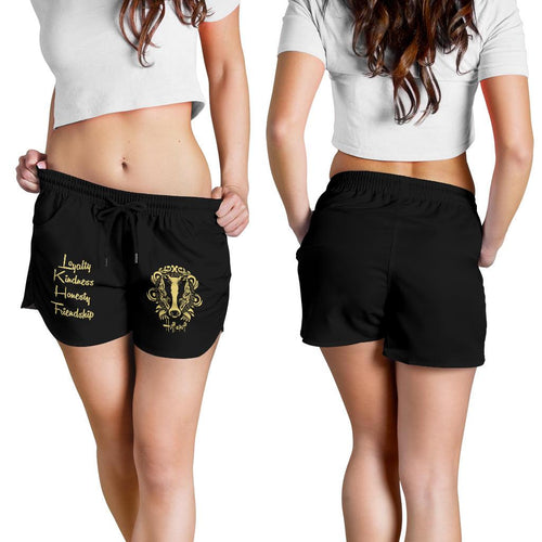 Harry Potter Hufflepuff Women's Shorts HPWS001 - - Ineffable Shop