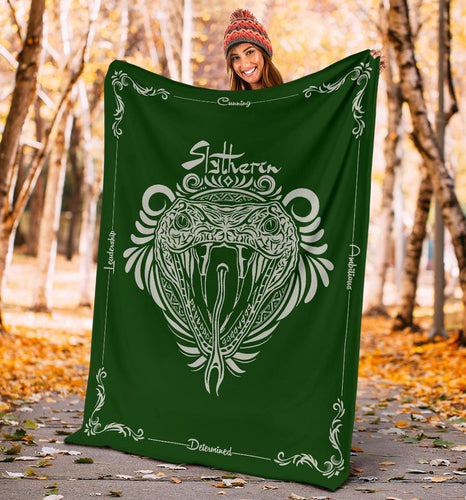 HARRY POTTER SLYTHERIN VINTAGE STYLE Fleece BLANKET - - Ineffable Shop