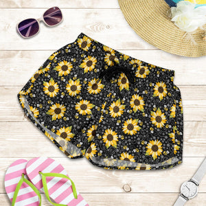 Sunflower And Bee Women's Shorts - - Ineffable Shop
