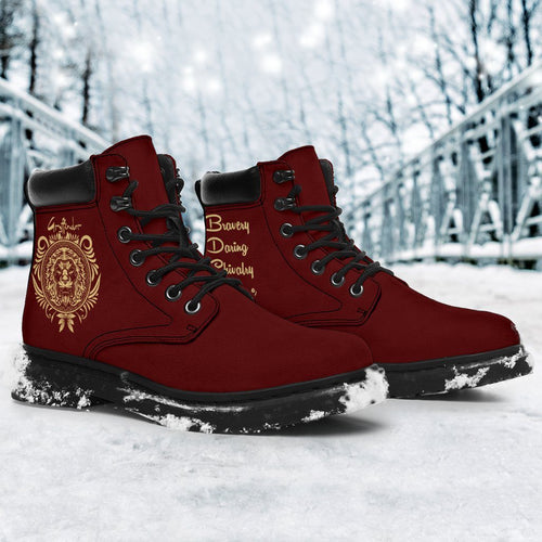 Gryffindor Women's Flat Ankle Boots - - Ineffable Shop