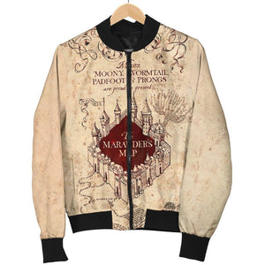 Marauder's Map Women's Bomber Jacket - - Ineffable Shop