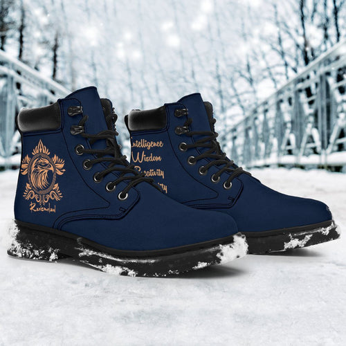 Ravenclaw Women's Flat Ankle Boots - Ineffable Shop