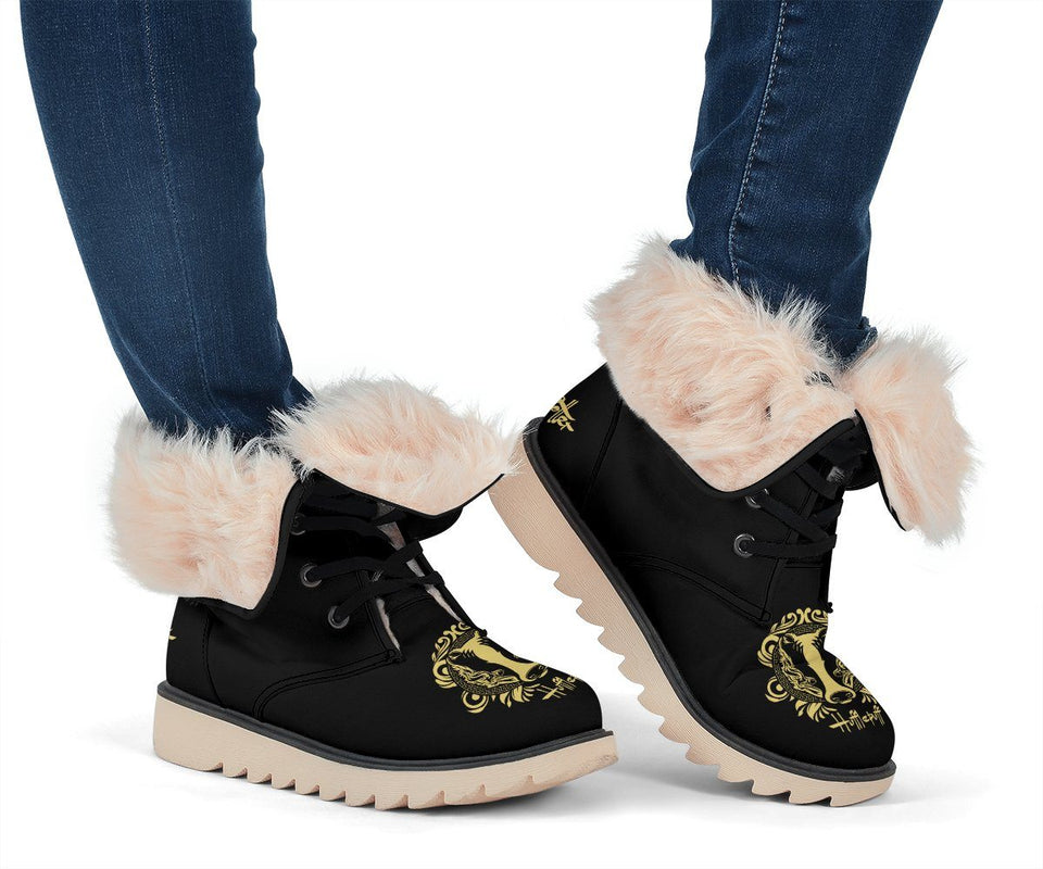 Harry Potter Hufflepuff Women's Snow Boots - Ineffable Shop