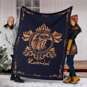 HARRY POTTER Ravenclaw VINTAGE STYLE Fleece BLANKET - Ineffable Shop