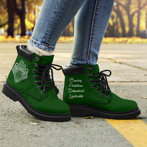 Harry Potter Slytherin Women's Flat Ankle Boots - Ineffable Shop