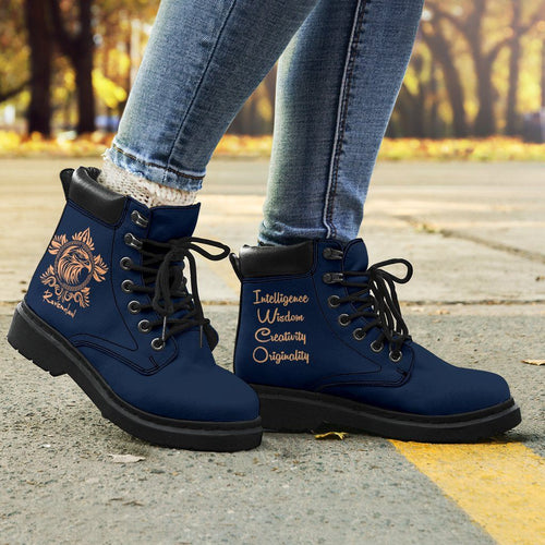 Harry Potter Ravenclaw Women's Flat Ankle Boots - - Ineffable Shop