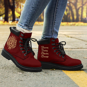 Harry Potter Gryffindor Women's Flat Ankle Boots - Women / US4.5 (EU35) - Ineffable Shop
