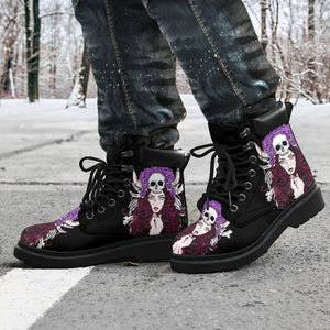 Skull Girl Men's Flat Ankle Boots - - Ineffable Shop