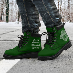 Harry Potter Slytherin Men's Flat Ankle Boots - - Ineffable Shop