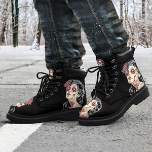 Dead Girl Men's Flat Ankle Boots