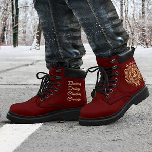 Harry Potter Gryffindor Men's Flat Ankle Boots - - Ineffable Shop