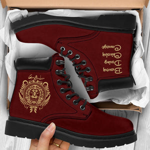 Harry Potter Gryffindor Women's Flat Ankle Boots - - Ineffable Shop