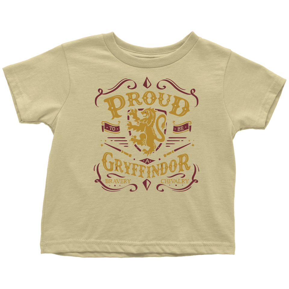 Gryffindor Pride Toddler T-Shirt - Toddler T-Shirt / Lemon / 2T - Ineffable Shop
