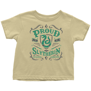Slytherin Toddler T-Shirt - Toddler T-Shirt / Lemon / 2T - Ineffable Shop
