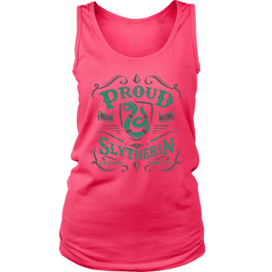 Slytherin District Womens Tank - District Womens Tank / Neon Pink / S - Ineffable Shop