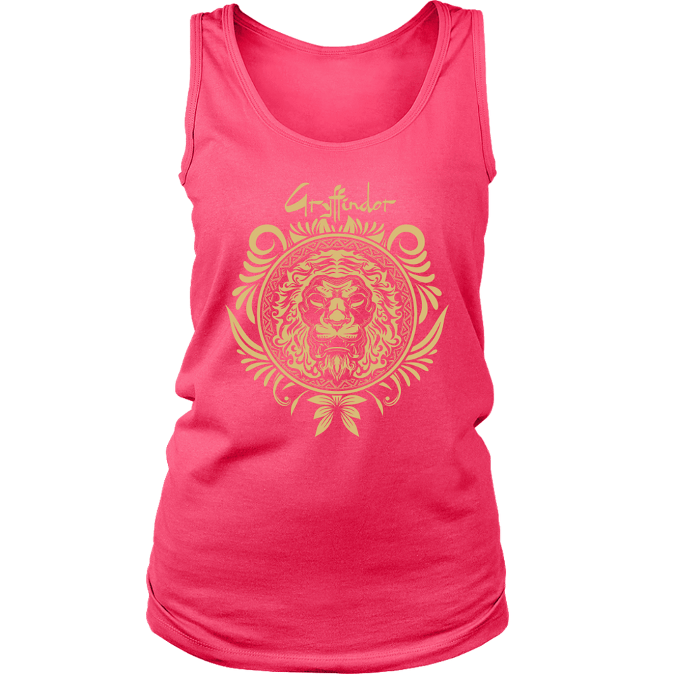 Harry Potter Vintage Gryffindor Badge District Womens Tank - Ineffable Shop