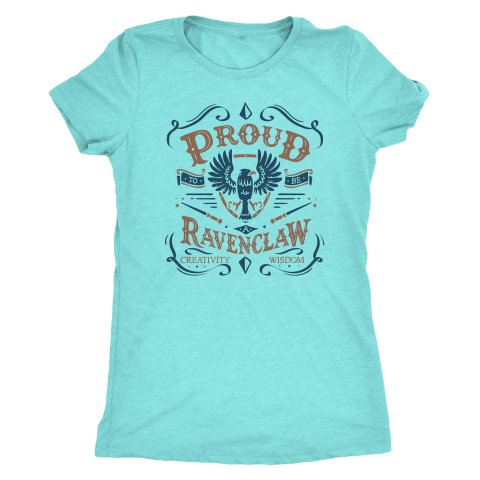 Ravenclaw Pride Next Level Womens Triblend - Next Level Womens Triblend / Tahiti Blue / S - Ineffable Shop