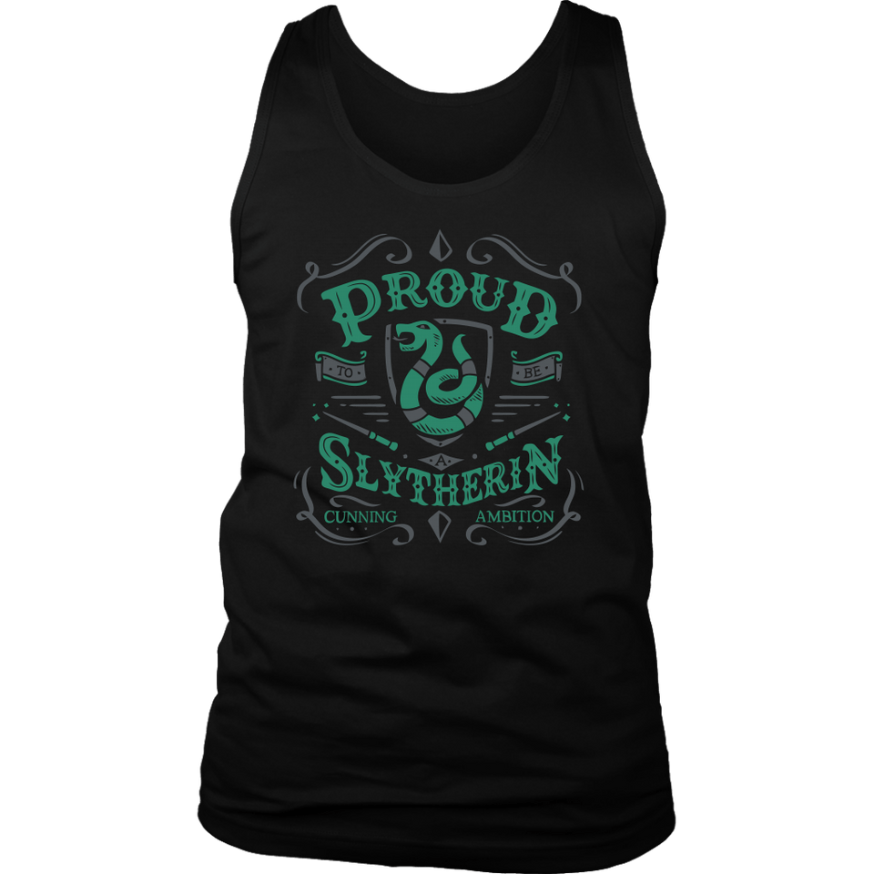 Slytherin District Mens Tank - District Mens Tank / Black / S - Ineffable Shop