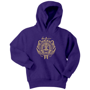 Harry Potter Vintage Gryffindor Badge Youth Hoodie - Youth Hoodie / Purple / XS - Ineffable Shop
