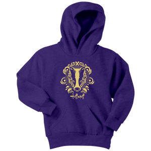 Harry Potter Vintage Hufflepuff Youth Hoodie - Youth Hoodie / Purple / XS - Ineffable Shop