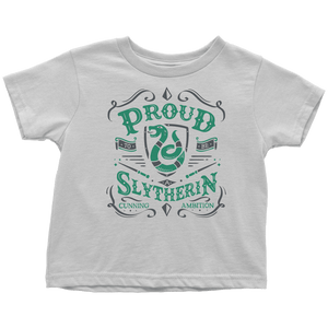 Slytherin Toddler T-Shirt - Toddler T-Shirt / White / 2T - Ineffable Shop