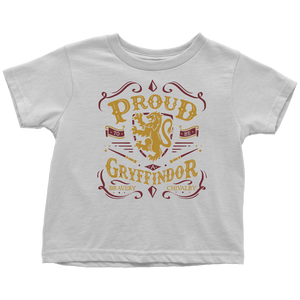 Gryffindor Pride Toddler T-Shirt - Toddler T-Shirt / White / 2T - Ineffable Shop