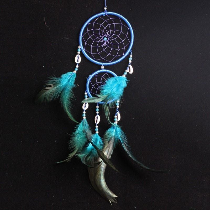 New 4 Colors Beautiful Dreamcatcher Handmade Rattan With Feathers - - Ineffable Shop