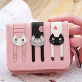2017 New Cute Girl Leather Cat Wallet - - Ineffable Shop