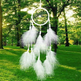 Antique Imitation Enchanted Forest Dreamcatcher Gift Handmade Dream Catcher Net With Feathers Wall Hanging Decoration Ornament - - Ineffable Shop