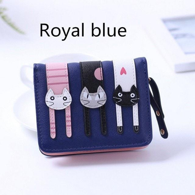 2017 New Cute Girl Leather Cat Wallet - 05 Royal blue - Ineffable Shop