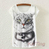 2017 New Fashion Vintage T-shirt - Meow T-shirt - 2 / One Size - Ineffable Shop