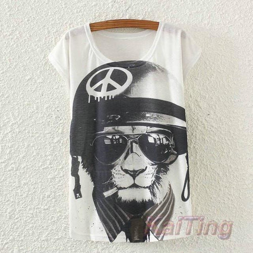 2017 New Fashion Vintage T-shirt - Meow T-shirt - 1 / One Size - Ineffable Shop