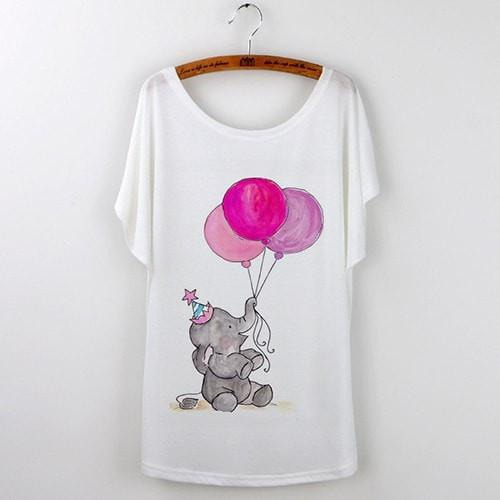 Best Quality Harajuku Cat T-Shirts Women 2017 - White 506 / S - Ineffable Shop