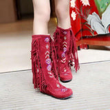 New Style Native American Fringe Boots, MOCCASIN BOOTS FASHION WINTER INDIAN BOOTS - - Ineffable Shop