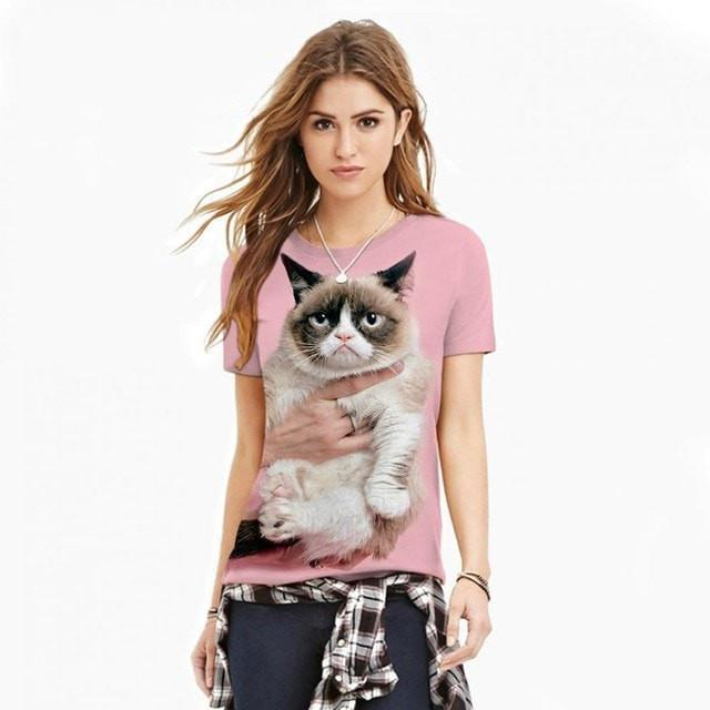 cat 2017 High Quality T Shirt Women Fancy Cat 3D Printed Couples Tee Unisex - Ineffable Shop