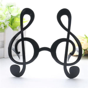 Super Cool Black Musical Note Glasses - black - Ineffable Shop