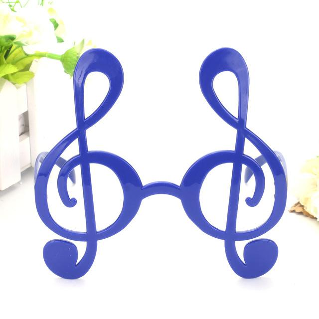 Super Cool Black Musical Note Glasses - blue - Ineffable Shop