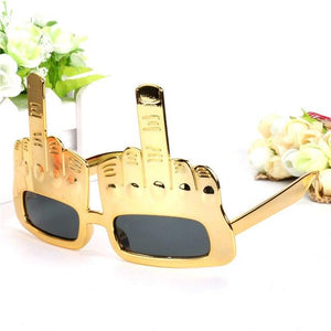 Super Cool Middle Fingers Glasses - gold - Ineffable Shop