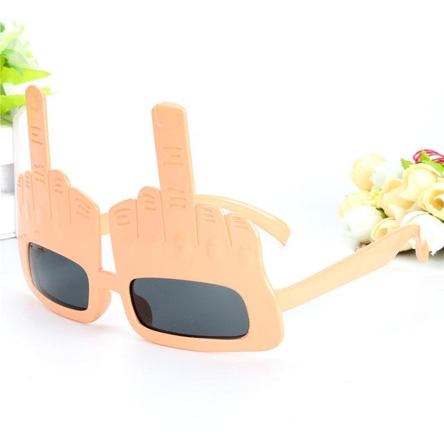 Super Cool Middle Fingers Glasses - nude - Ineffable Shop