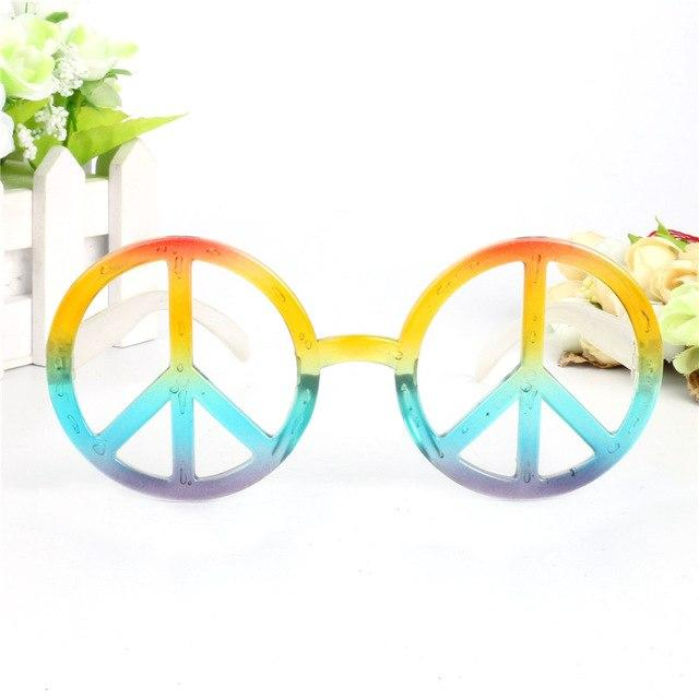Rainbow World Peace Sign Costume Glasses - rainbow1 - Ineffable Shop